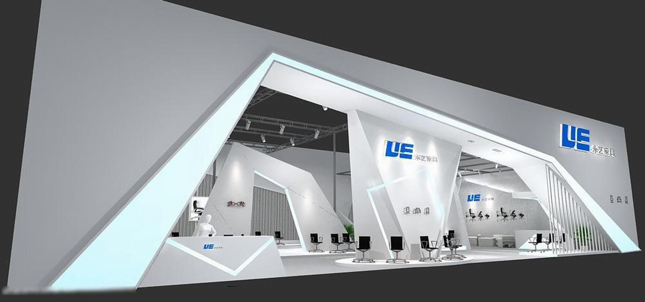 Exhibition Booth Obj : Exhibition area dmax  d model max
