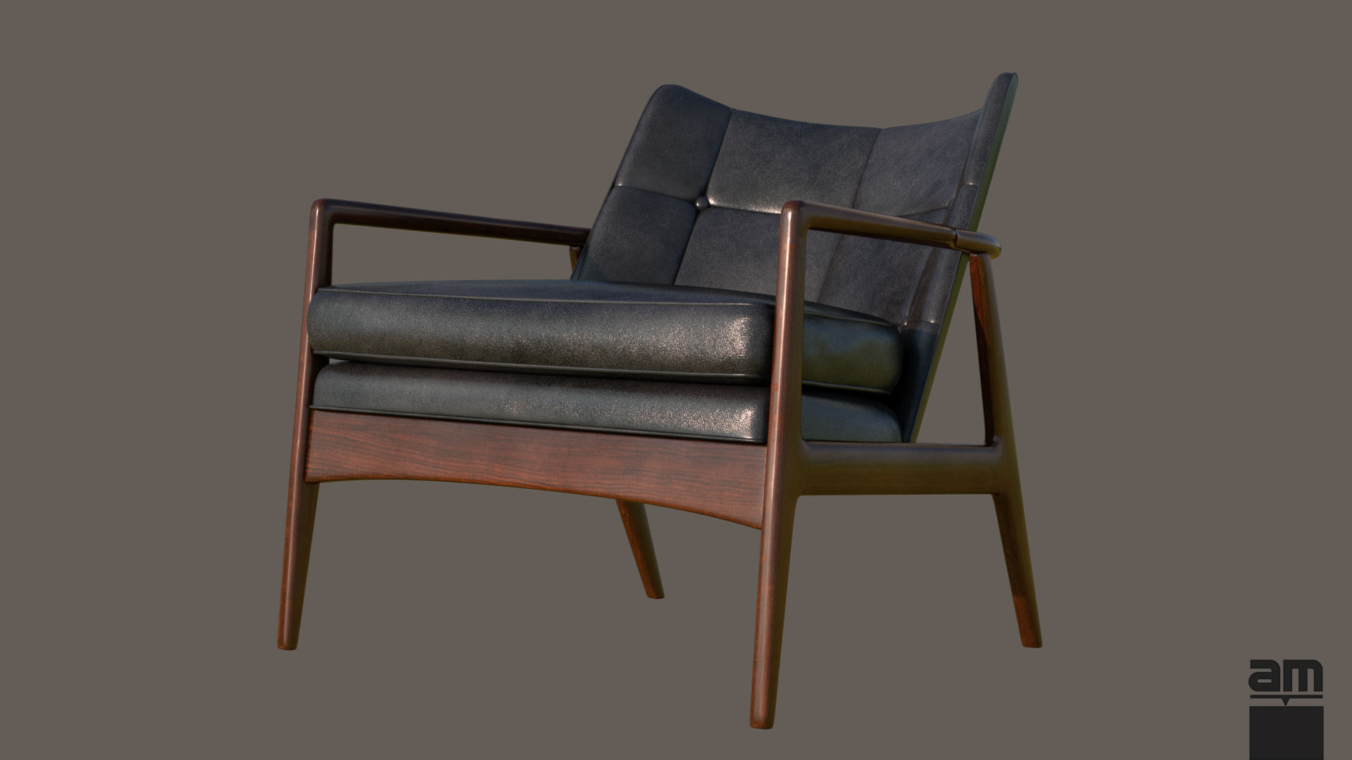 Milo Baughman Thayer Coggin Armchair 3D Model MAX OBJ FBX ...