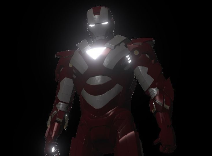 Iron Man Rigged3D model