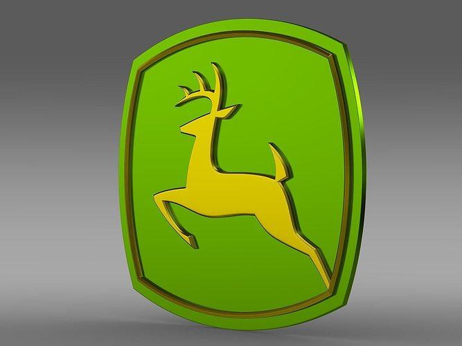 john deer logo 3d model max obj mtl 3ds fbx c4d lwo lw lws 1