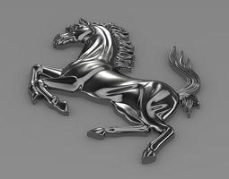 Ferrari  horse logo 3D Model