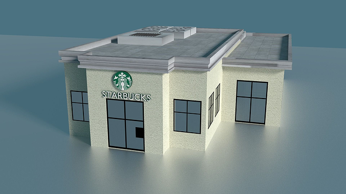 Starbucks Building 3d Model Cgtrader
