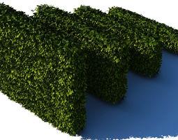 vegetation 3D model Hedges Collection