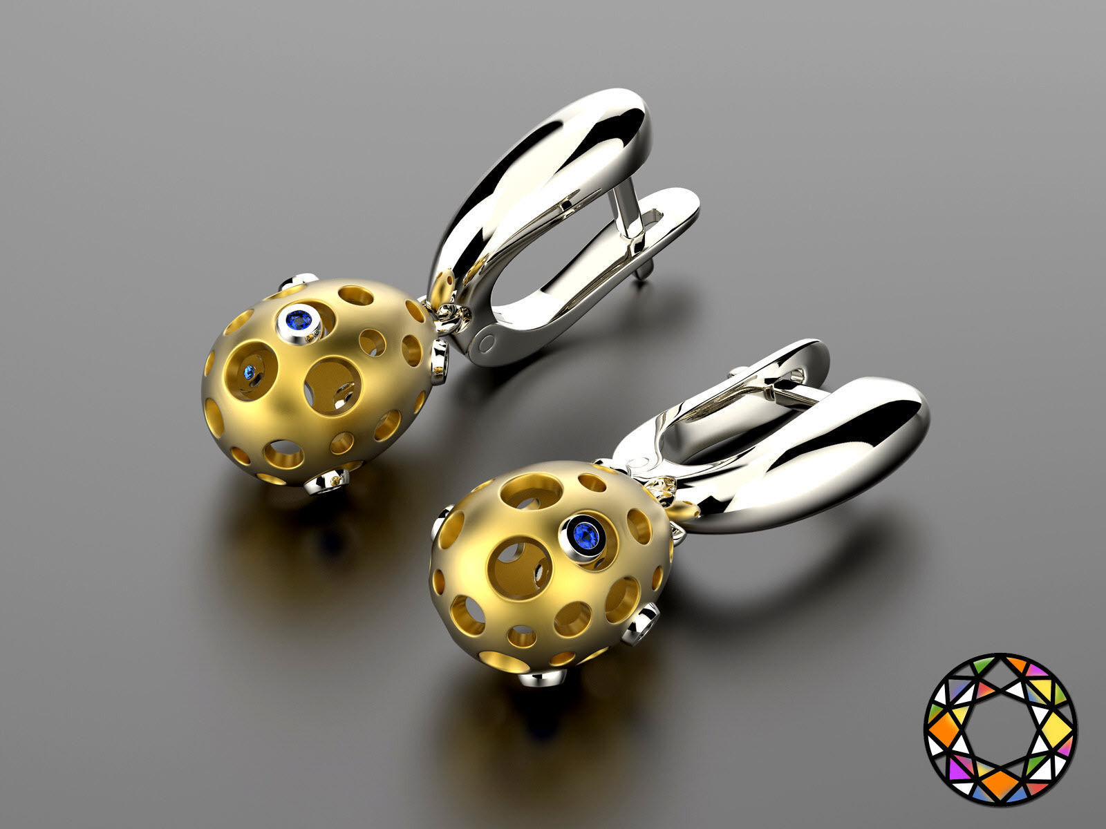 Easter eggs collection earrings set 2 with gems 0140