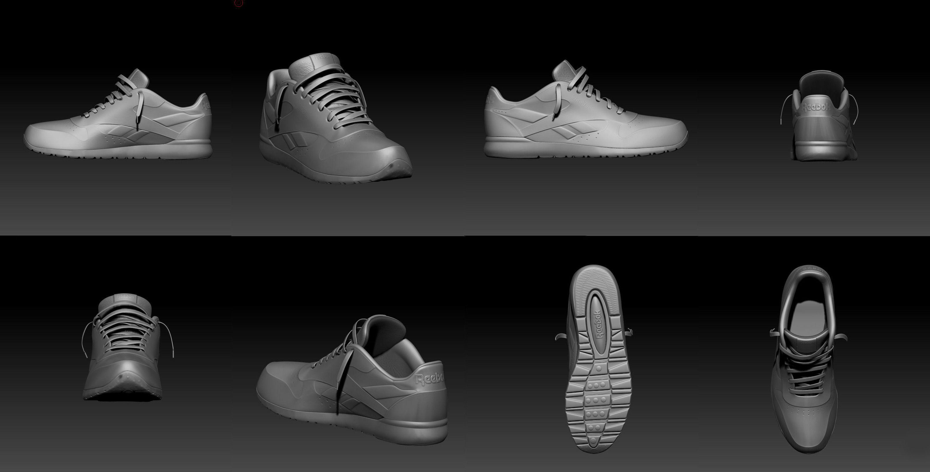 reebok shoe model 3D Model OBJ FBX MA MB