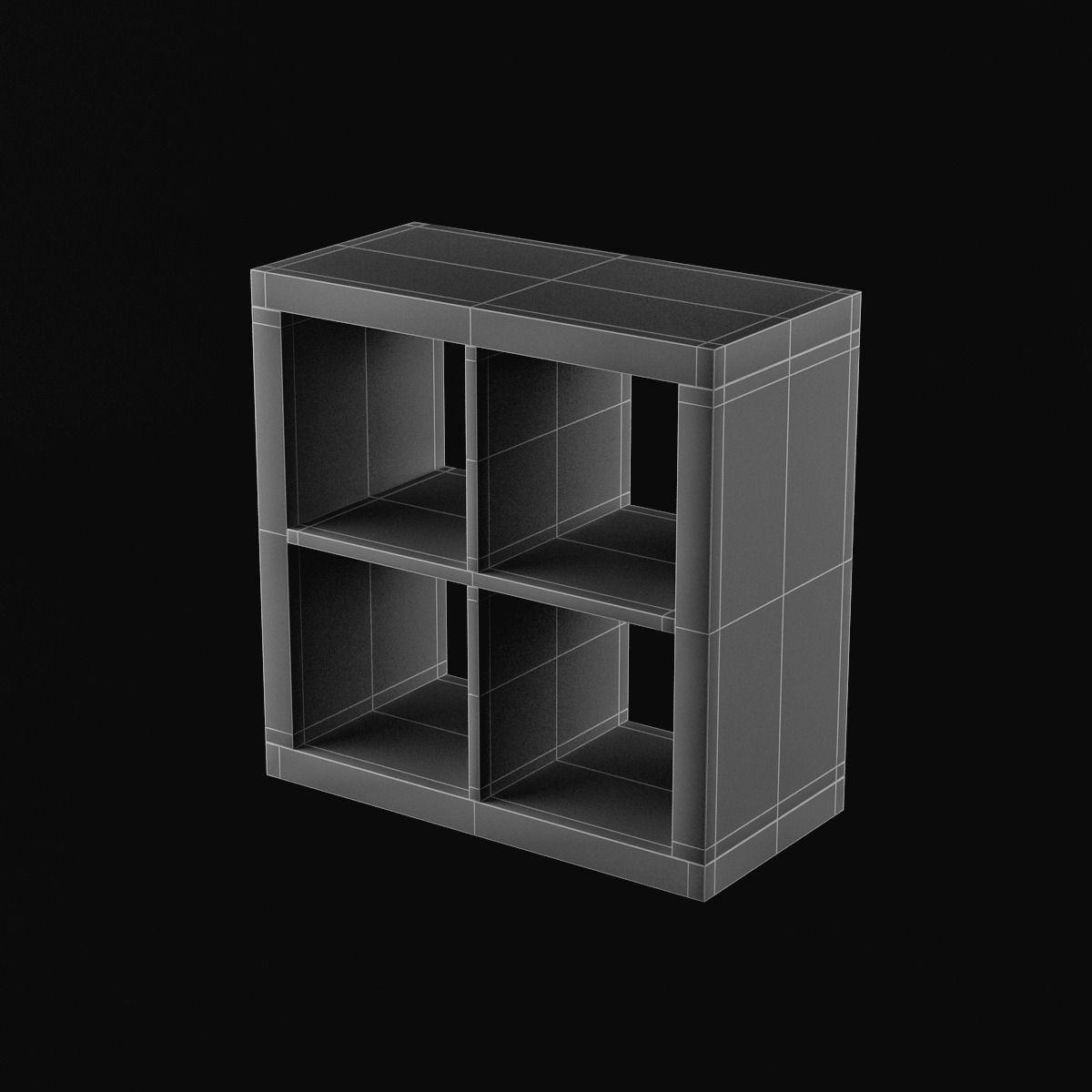 ikea expedit shelving unit 03 3d model max. Black Bedroom Furniture Sets. Home Design Ideas