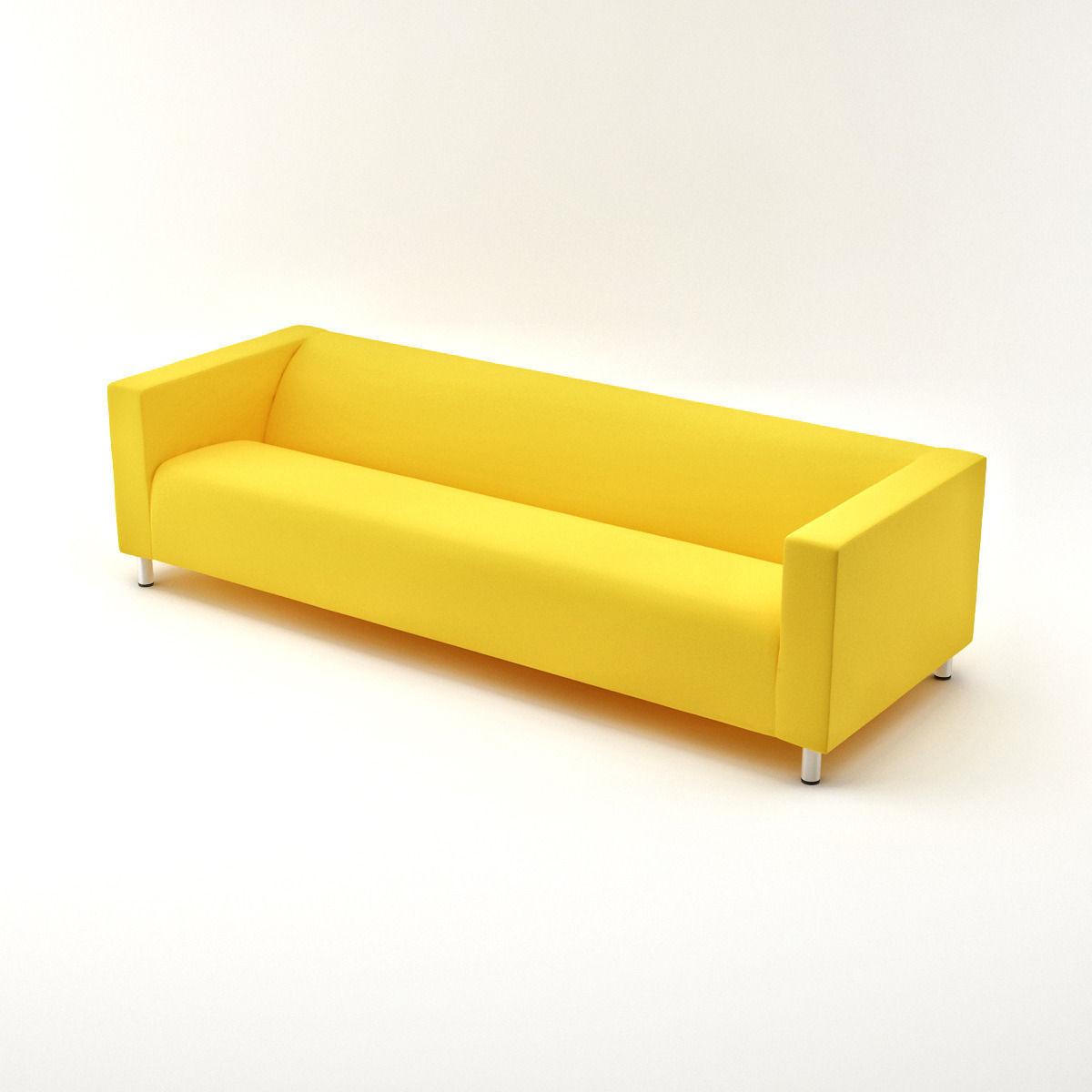 IKEA KLIPPAN Four-seat Sofa 3D Model .max - CGTrader.com