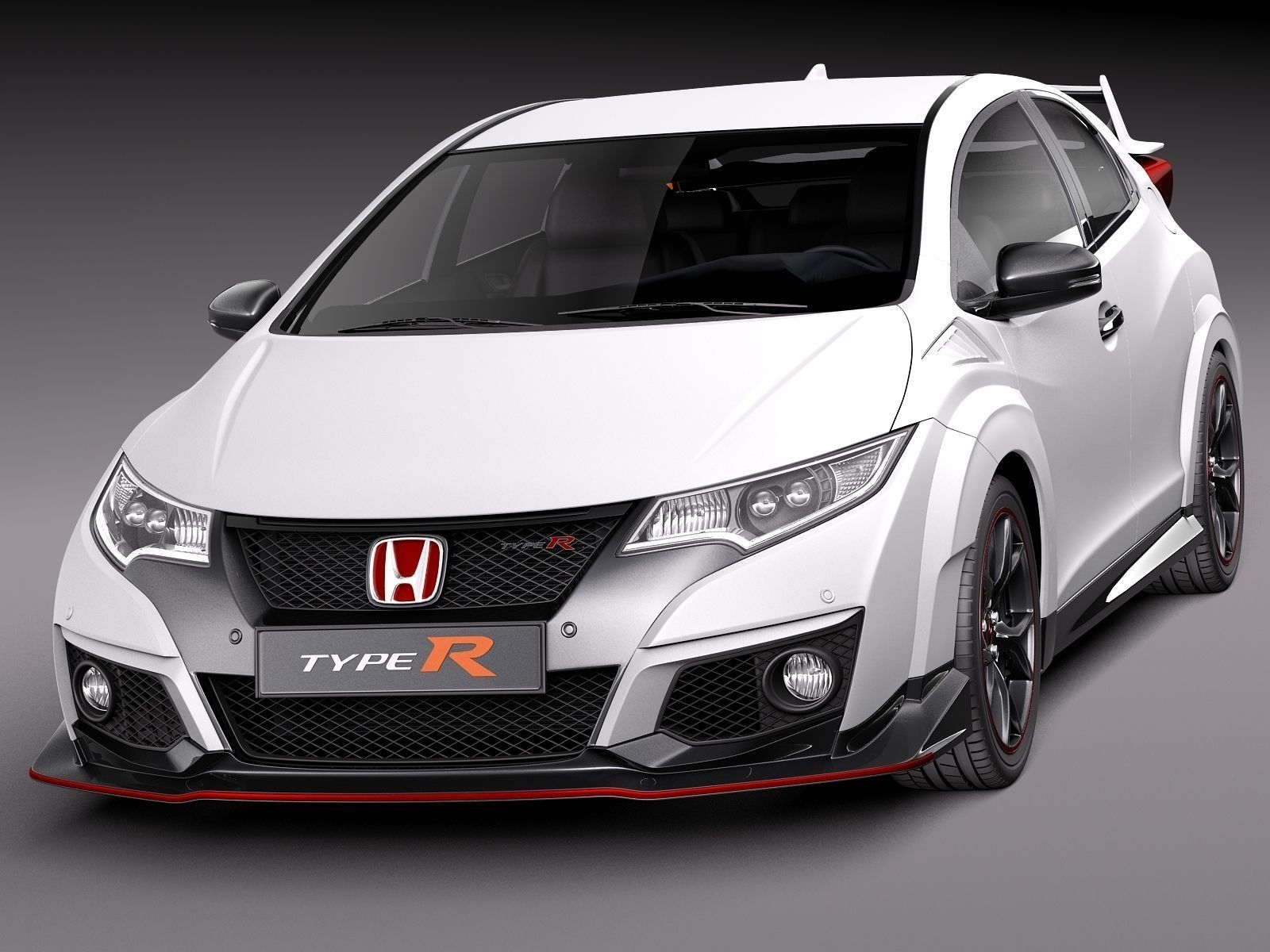 honda civic type r 2016 3d model max obj 3ds fbx c4d. Black Bedroom Furniture Sets. Home Design Ideas