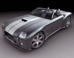 Shelby Cobra Concept Car 3D Model
