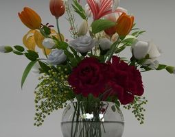 3d model flowers in pot