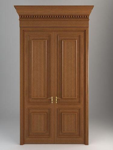 Wooden door 53D model