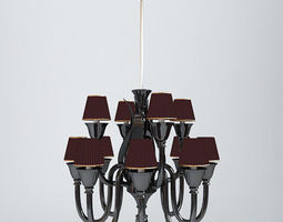 Modern Photoreal Chandelier 3D model
