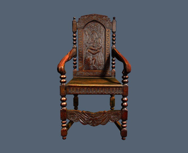 Antique Jacobean Armchair3D model