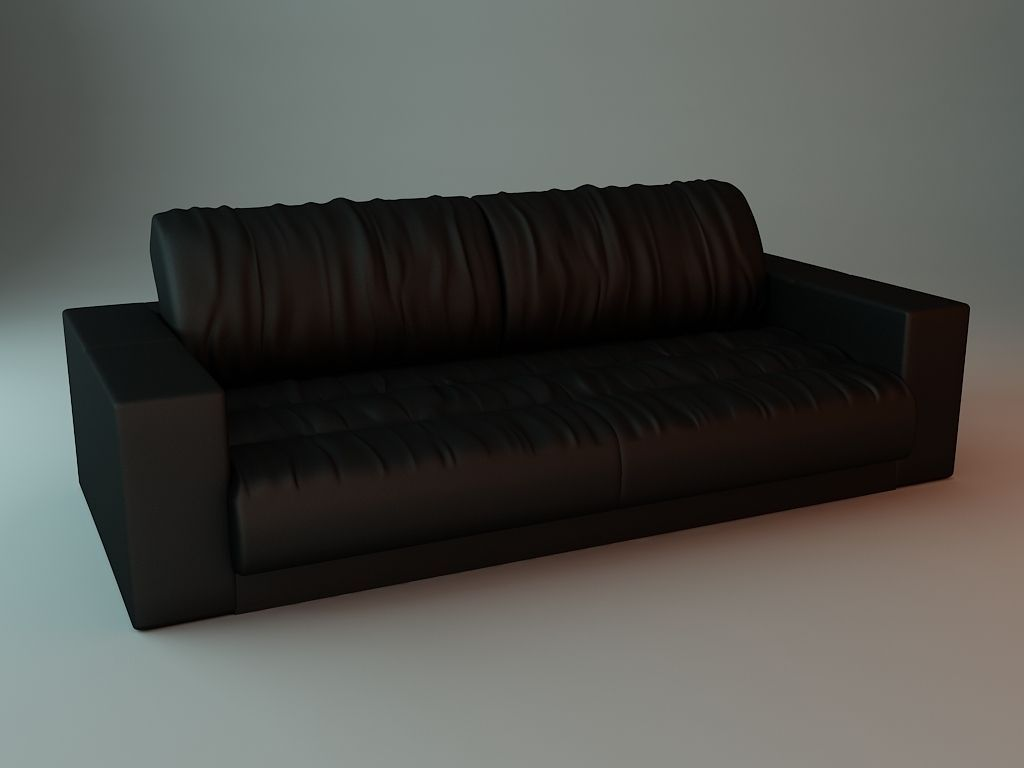 Soft Leather Sofa 3d Model Max Obj 3ds Fbx Mtl