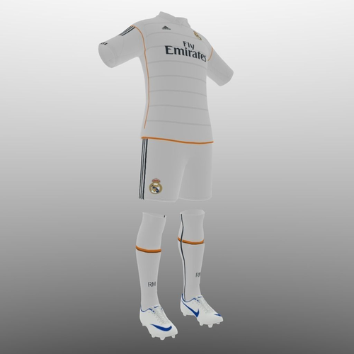 Real Madrid home soccer kit3D model