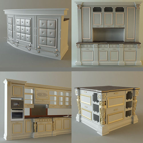 Product collection kitchen cabinets and appliances 3d model for Kitchen cabinets models