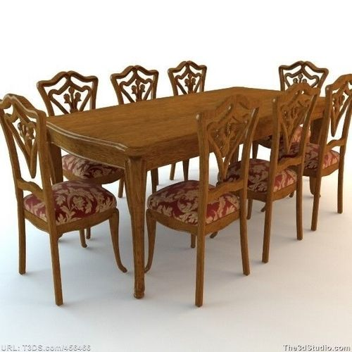 Dining Room Table and Chairs3D model