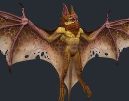 Vampire Bat Monster 3 3D Model