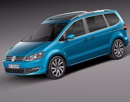 Volkswagen Sharan 2016 3D Model