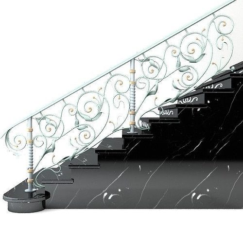 elegant stairs 3d model max 1