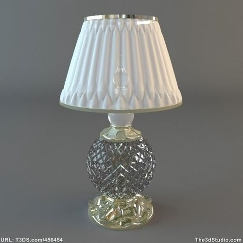 Crystal Base Table Lamp3D model