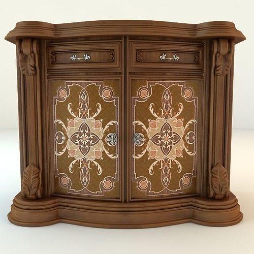 3d Model Kitchen Cabinet Part Cgtrader