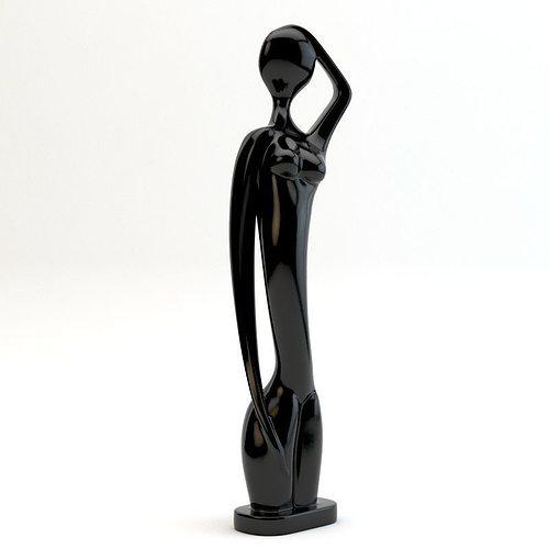 statue of african women 3d model max obj mtl 3ds fbx unitypackage prefab 1