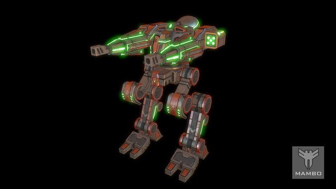 Sci-Fi Robot -  Mambo3D model