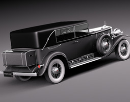 Cadillac V16 Sixteen 1930 Fleetwood Imperial 3D Model