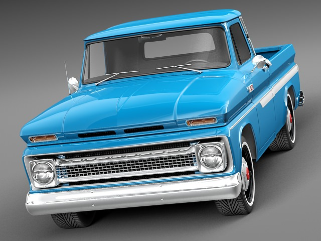 chevrolet c10 1965 pickup 3d model max obj 3ds fbx c4d lwo lw lws. Black Bedroom Furniture Sets. Home Design Ideas