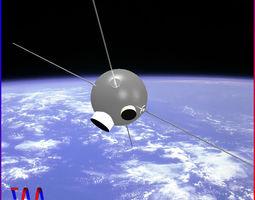 3D Vanguard II Satellite
