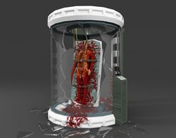 Thing creature in Lab room 3D Model