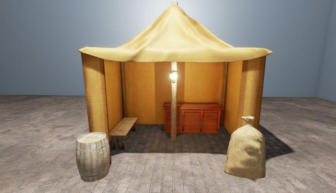 Camp set3D model