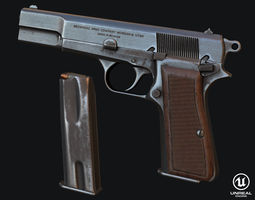 Browning Hi-Power 3D Model