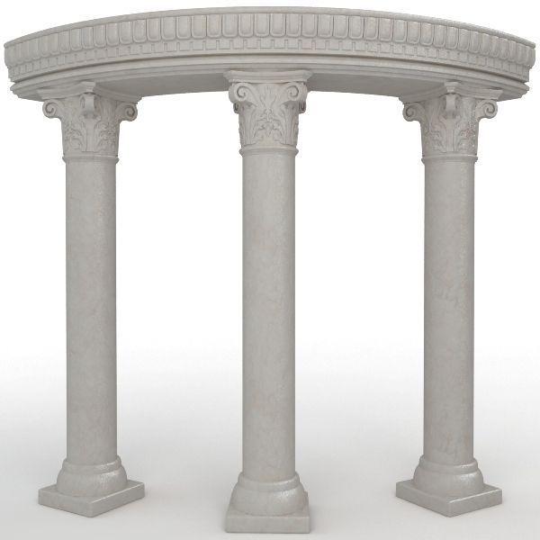 3 Stone Columns