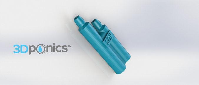 venturi - 3dponics drip hydroponics 3d model obj mtl stl sldprt sldasm slddrw 1