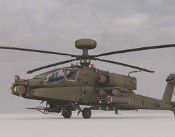 AH-64  animated 3D Model