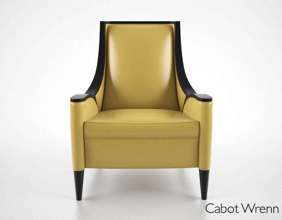 Cabot Wrenn Mood Chair 3D Model x obj fbx CGTrader