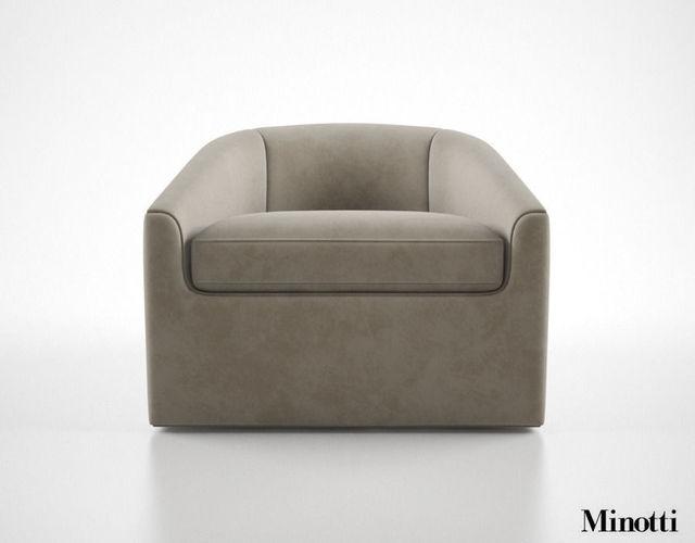 Minotti Quinn Armchair3D model