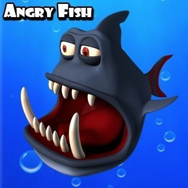 Angry Toon Fish3D model