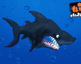 3D asset Toon Shark