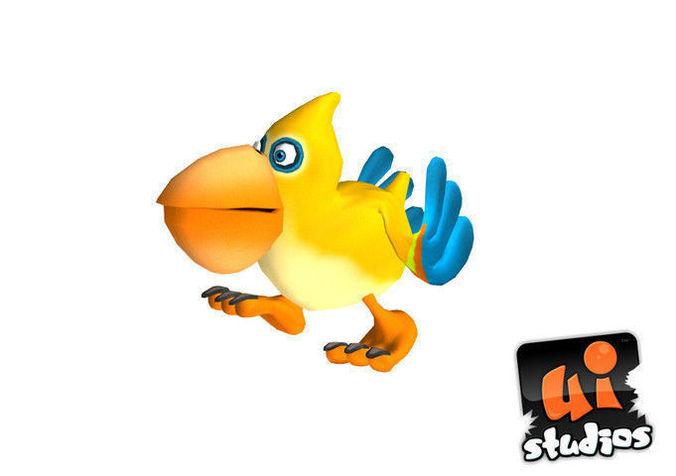 Toon Bird3D model