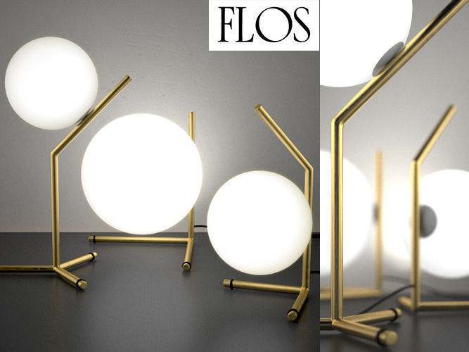 IC Lights table series by Flos 3D Model .max .obj ...