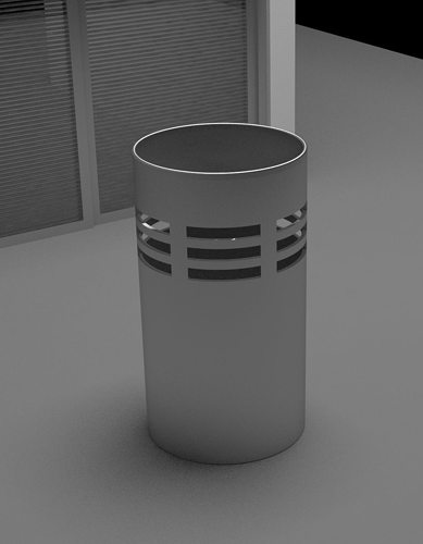 Office Trash Can 3d Model Max 1