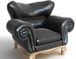 Large Armchair 3D Model