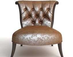 Ornate Classical Leather Chair 3D Model
