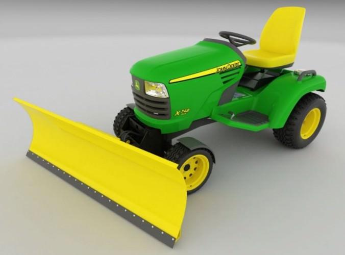 John Deere Lawn Mower 3d Models Cgtrader Com