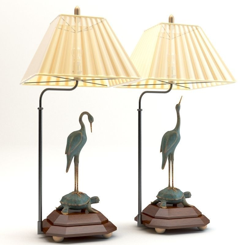 Chinese table lamps 3d model max obj 3ds cgtradercom for Table lamp 3ds max tutorial