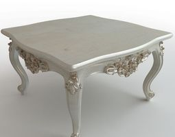 3d model baroque coffee table