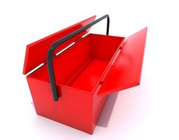 Red tool box 3D model